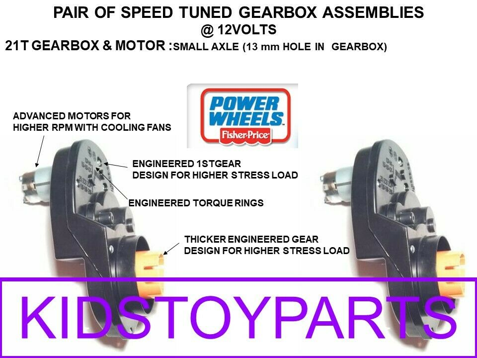 2 SPEED MODIFIED FAST Power Wheels Gearbox & Motor s for ...
