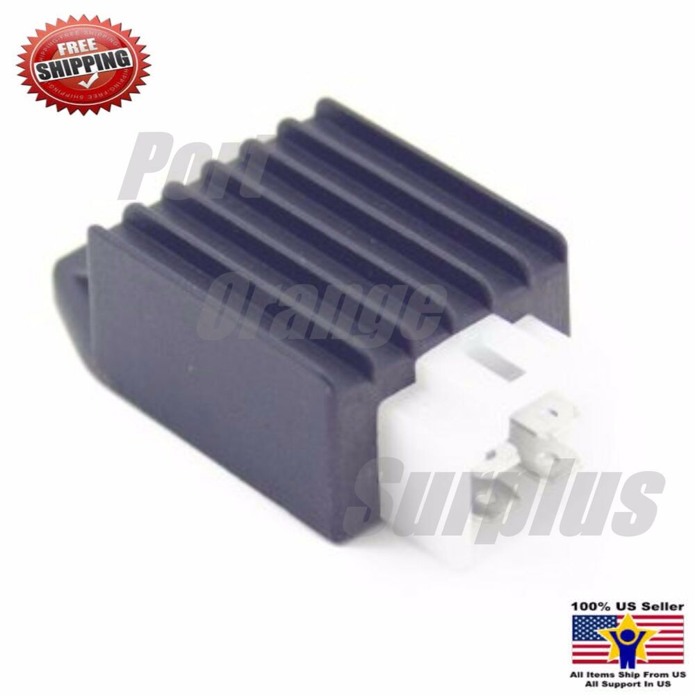 Chinese Scooter Voltage Regulator Rectifier 4-Prong GY6 50 ...