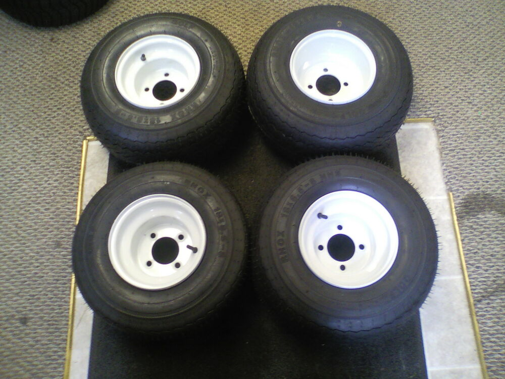 BRAND NEW MOUNTED TIRES AND RIMS FOR GOLF CART 18X8.5-8 ...