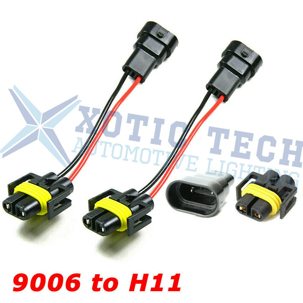 To H11 Headlights Conversion Pigtail Connectors Wiring Harness 1