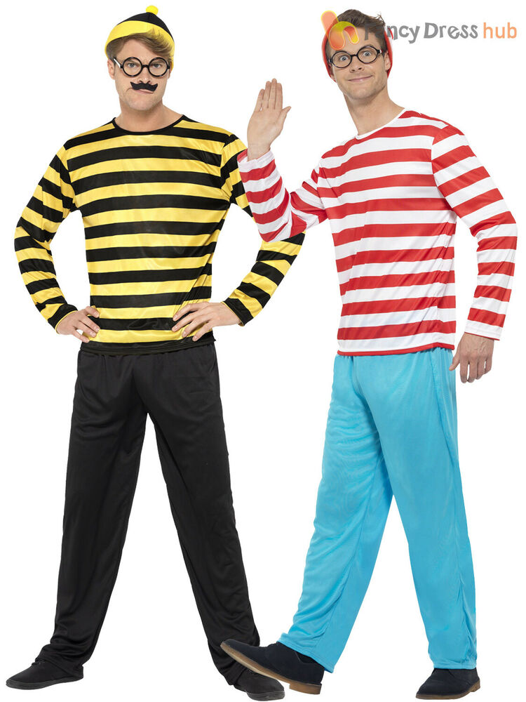 adult where 39 s wally costume mens odlaw fancy dress. Black Bedroom Furniture Sets. Home Design Ideas