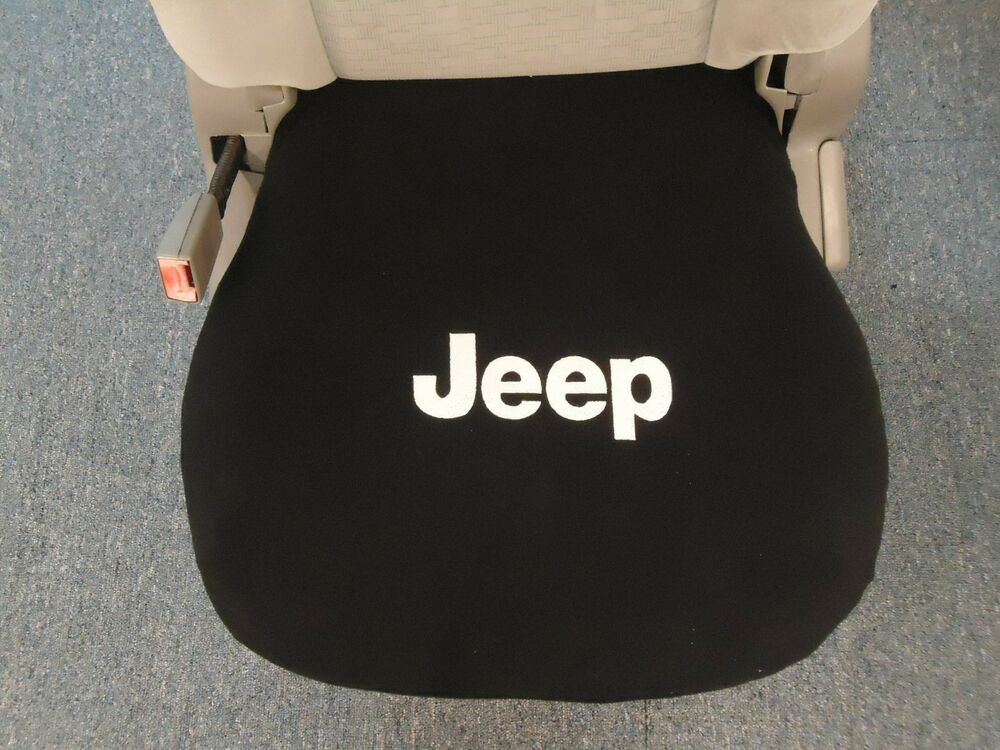 1 Bottom Bucket Seat Cover Fits All 2000 2016 Jeep With Embroidered Logo Ebay