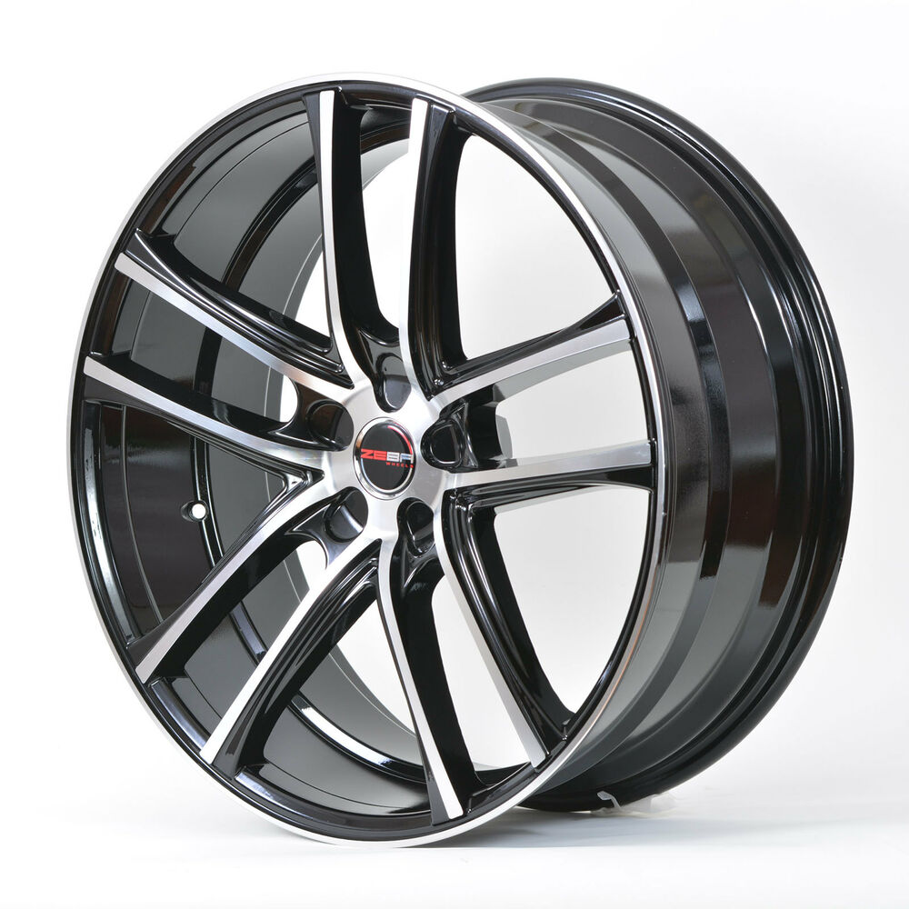 4 Gwg Wheels 18 Inch Black Machined Zero Rims Fits 5x120