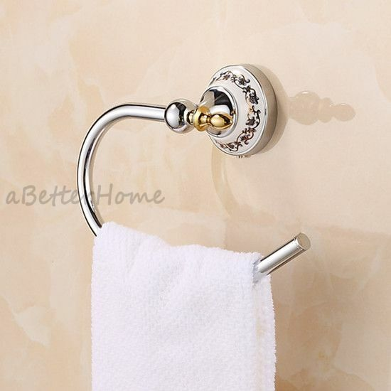 Chorme plated brass bathroom hand towel hanger wall mount for Bathroom hand towel holder