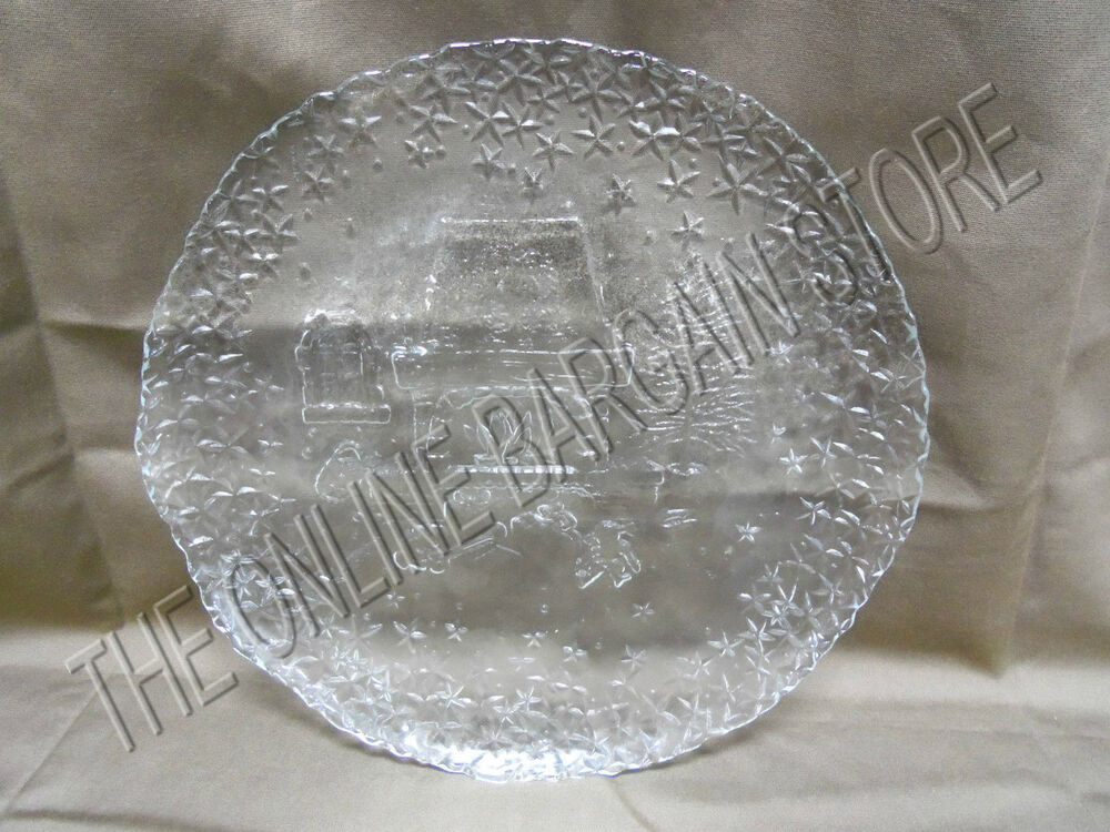 Christmas Holiday Kitchen Dining Room Table Glass Etched