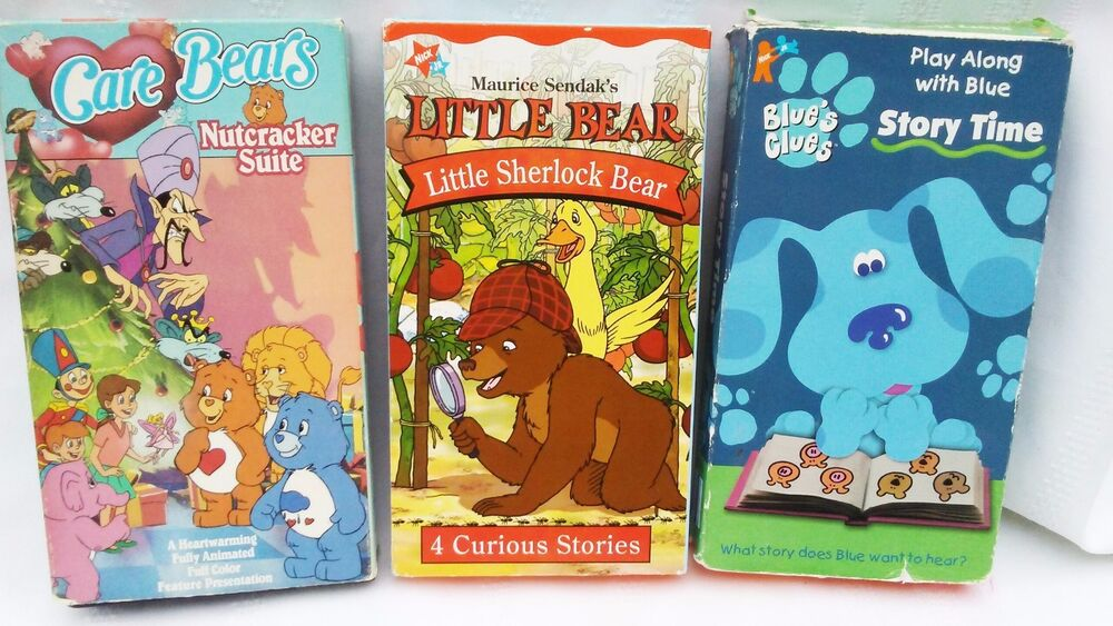 LOT 3 VINTAGE FUN CHILDRENS VHS TAPES CARE BEARS BLUES ...