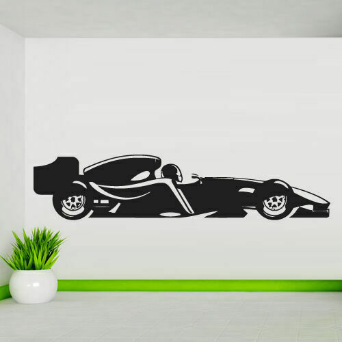 Wall decal sticker vinyl cars race bolide track speed for Amazing race car wall decals