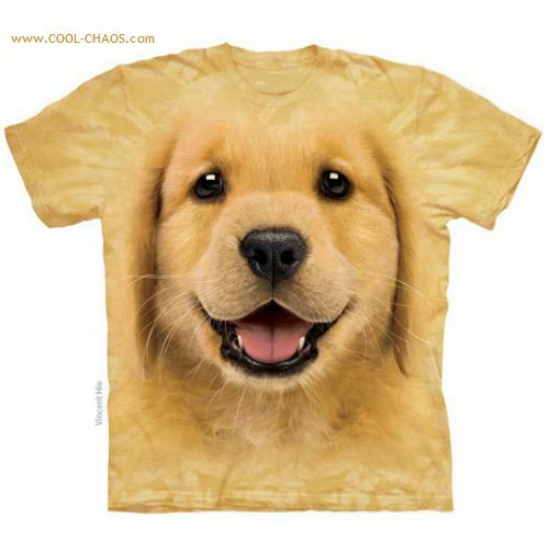 Golden retriever puppy love t shirt 3d gold tie dye tee for Unusual dog gifts
