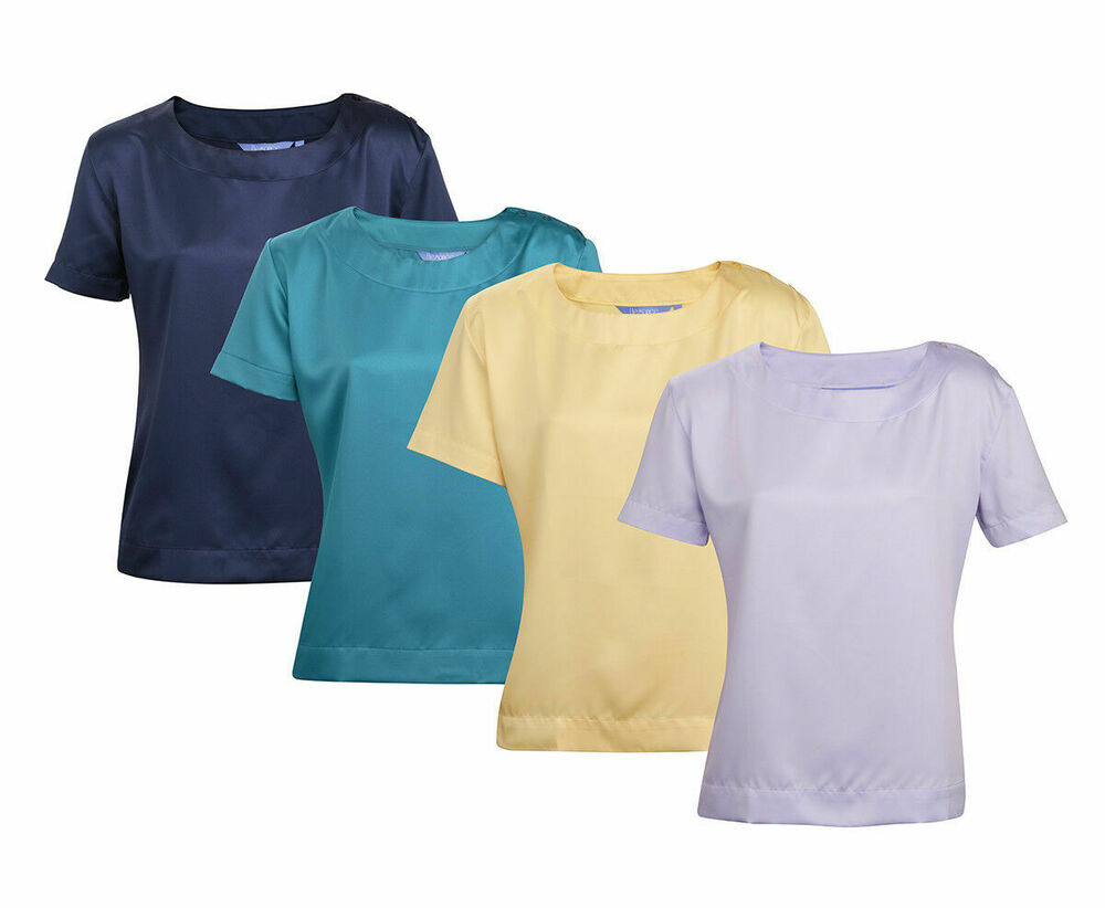 Ladies womens short sleeve blouse shirt top plus size work for Best short sleeve shirts