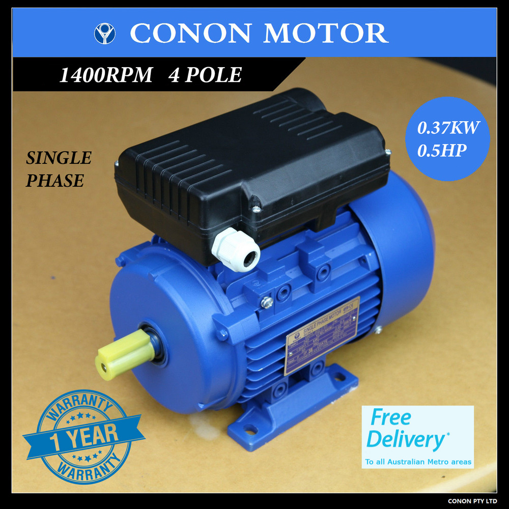 0 5hp 1400rpm electric motor single phase 240v for Vfd for 5hp motor