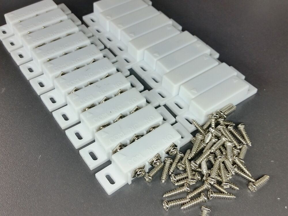 10x Magnetic Reed Switch Normally Open Closed Nc No Door