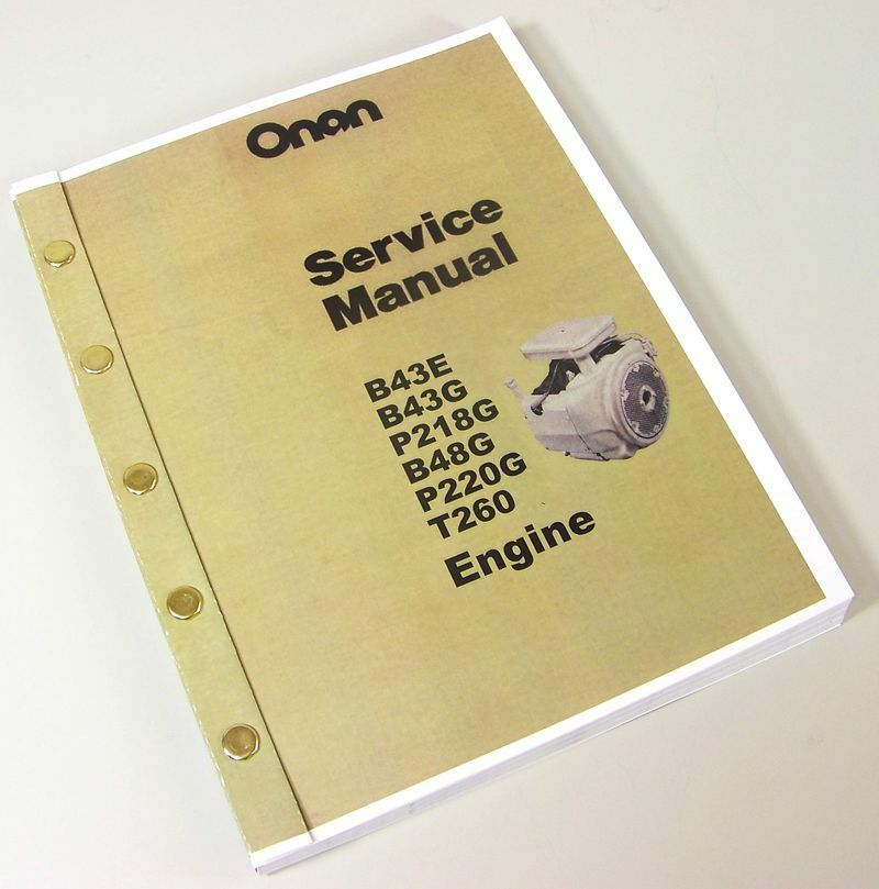 Onan performer Engines Service Manual