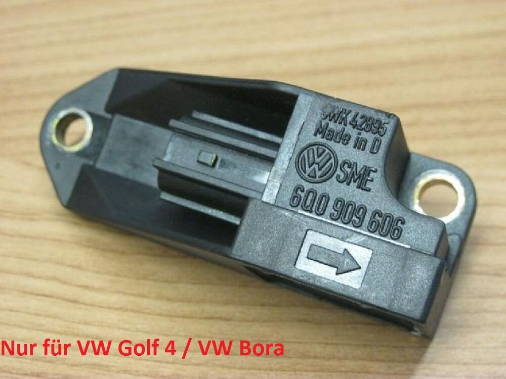 airbag crash sensor vw golf 4 bora 6q0909606 sitz ebay. Black Bedroom Furniture Sets. Home Design Ideas