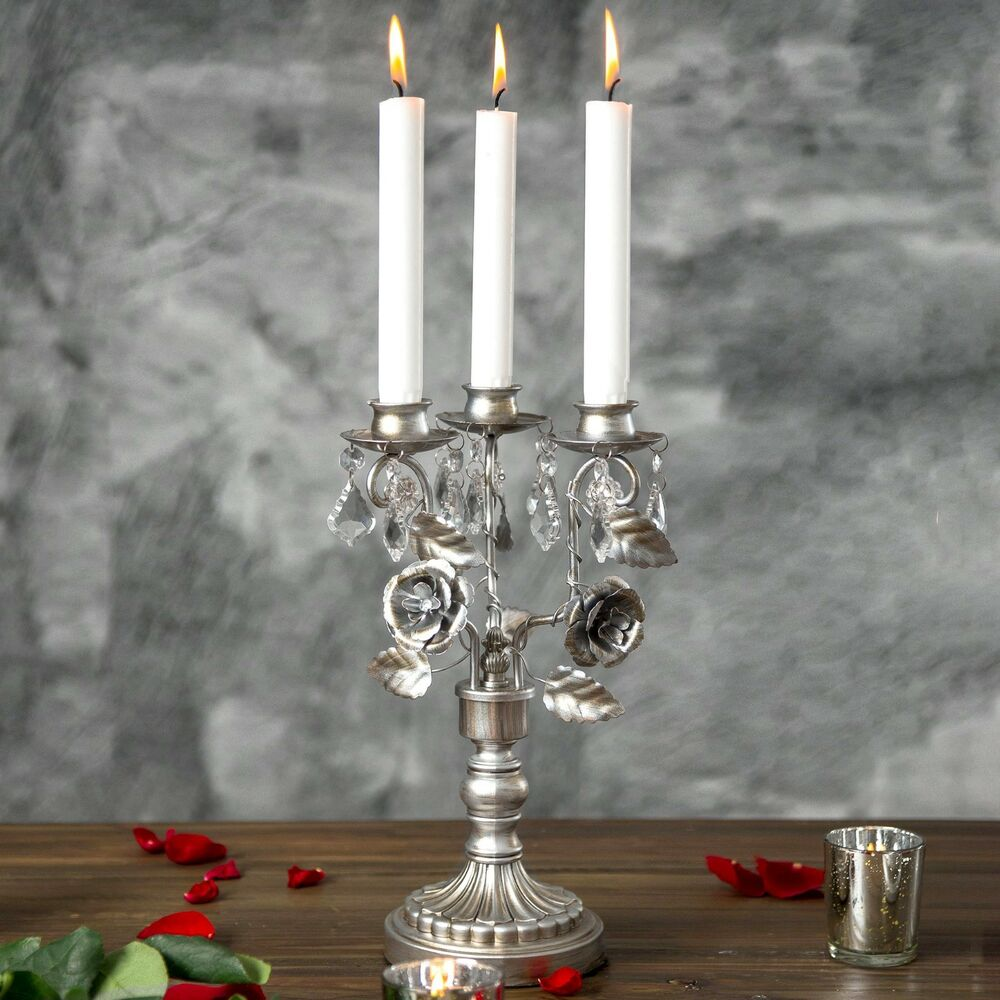 Wedding Centerpieces With Candles: Vintage Candelabra Centerpiece Candle Holder 3 Light Home