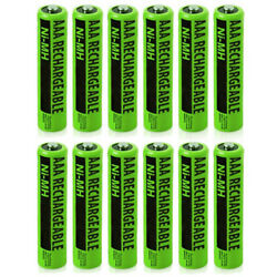 Rechargeable Cordless Phone Battery for Panasonic NiMH AAA (12-Pack)