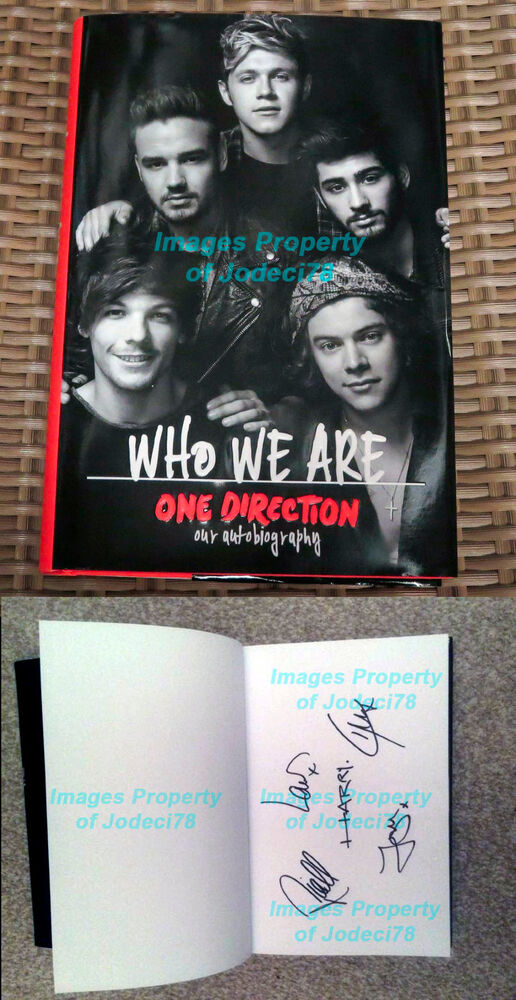 *Harry Styles* One Direction Full Band Signed Who We Are ...