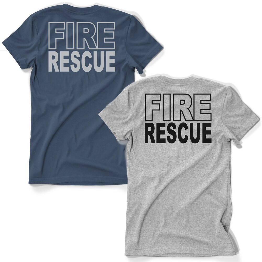 Fire Rescue Duty Firefighter T-Shirt Fire Dept. Navy Blue ...