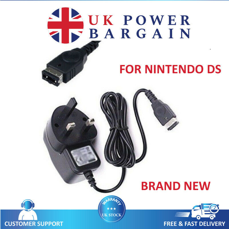 ce approved uk mains plug charger for nintendo ds gameboy advance gba sp nds ebay. Black Bedroom Furniture Sets. Home Design Ideas