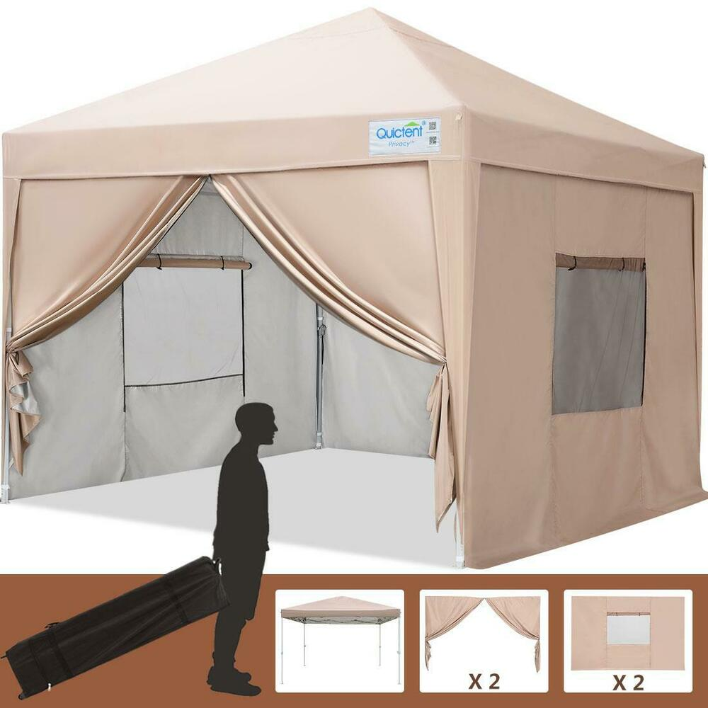 Privacy Curtain For 10x10 Gazebo : Quictent privacy x beige screen curtain ez pop up