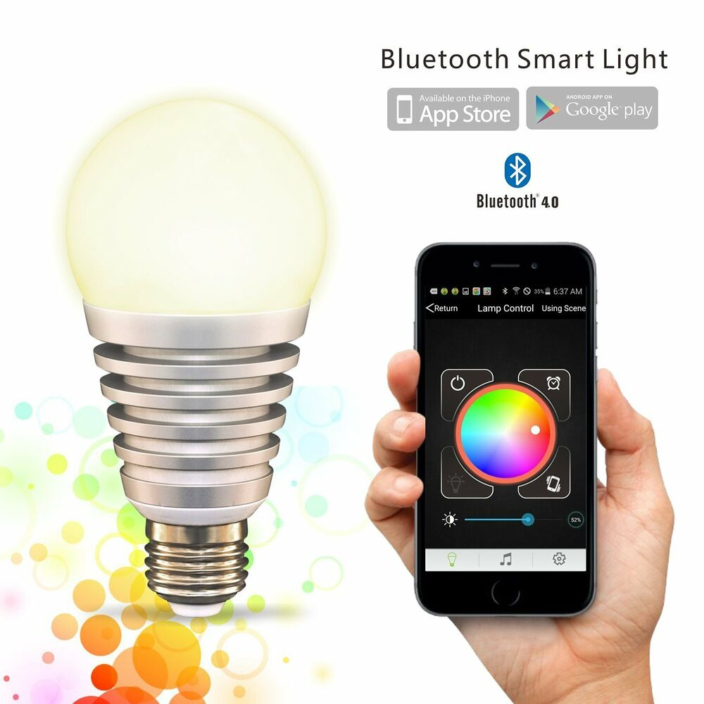 Flux superlight bluetooth smart led light bulb smartphone controlled bulb ebay Smart light bulbs