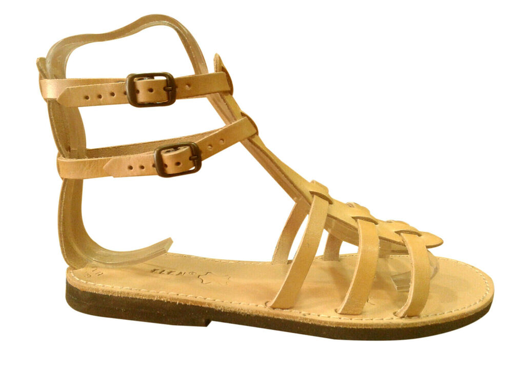 Ancient Greek Style Womens Sandals Gladiator Spartan