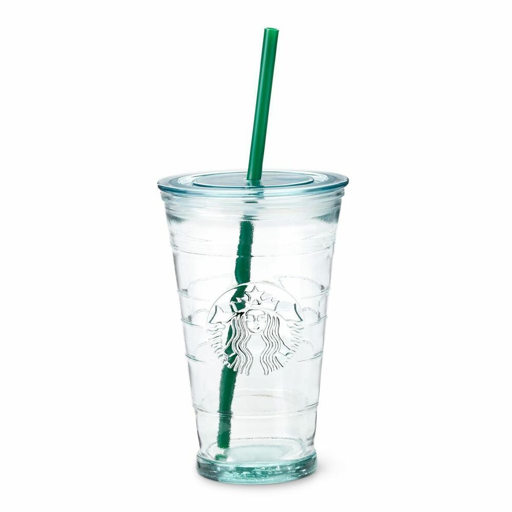 Starbucks Coffee Quality Cold Cup Mug RECYCLED GLASS Travel Tumbler 16oz Grande | eBay