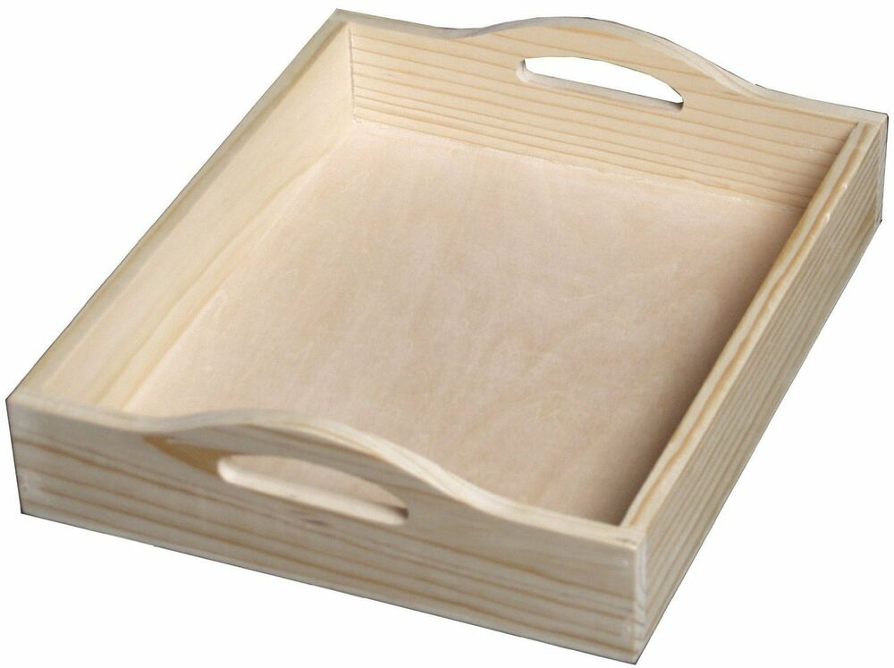 unfinished wood serving tray home decor accent piece ebay. Black Bedroom Furniture Sets. Home Design Ideas