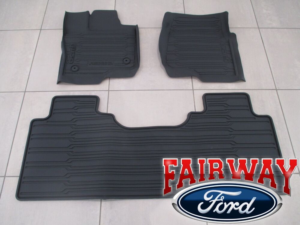 15 Thru 17 F 150 Oem Ford Tray Style Molded Floor Mat Set