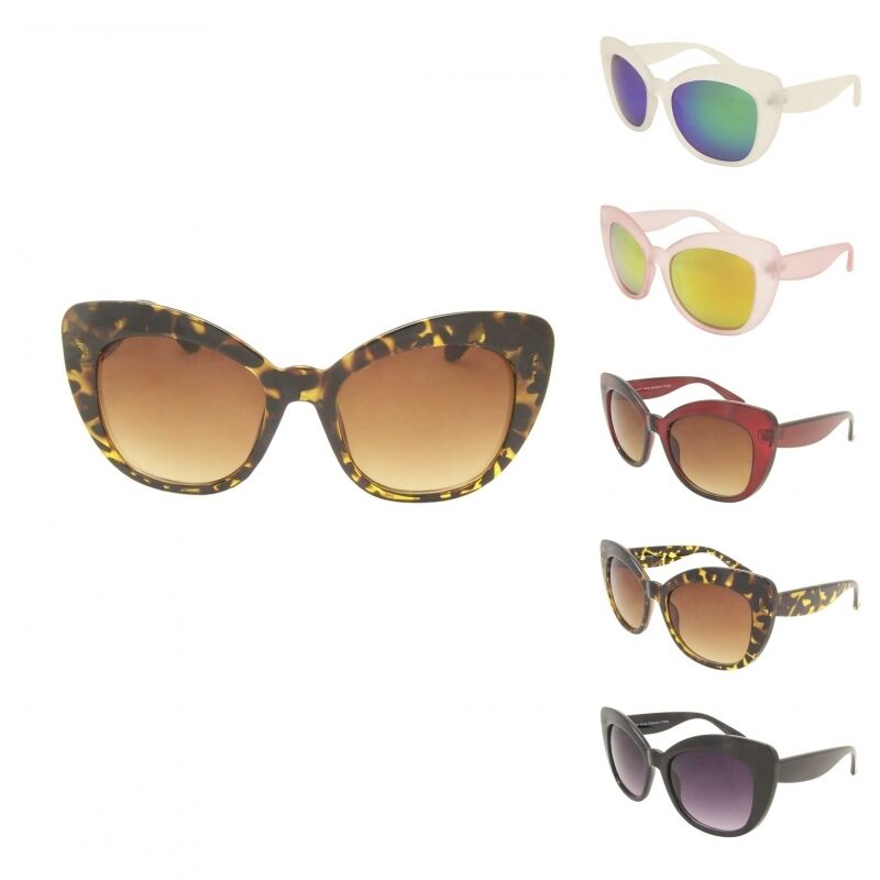 Celebrity Ladies Thick Large Frame Cat Eye Sunglasses