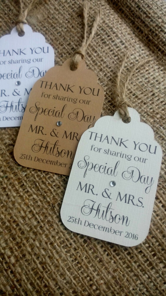 Wedding Favor Tags Ebay : ... Personalised Wedding Favour Gift Tags