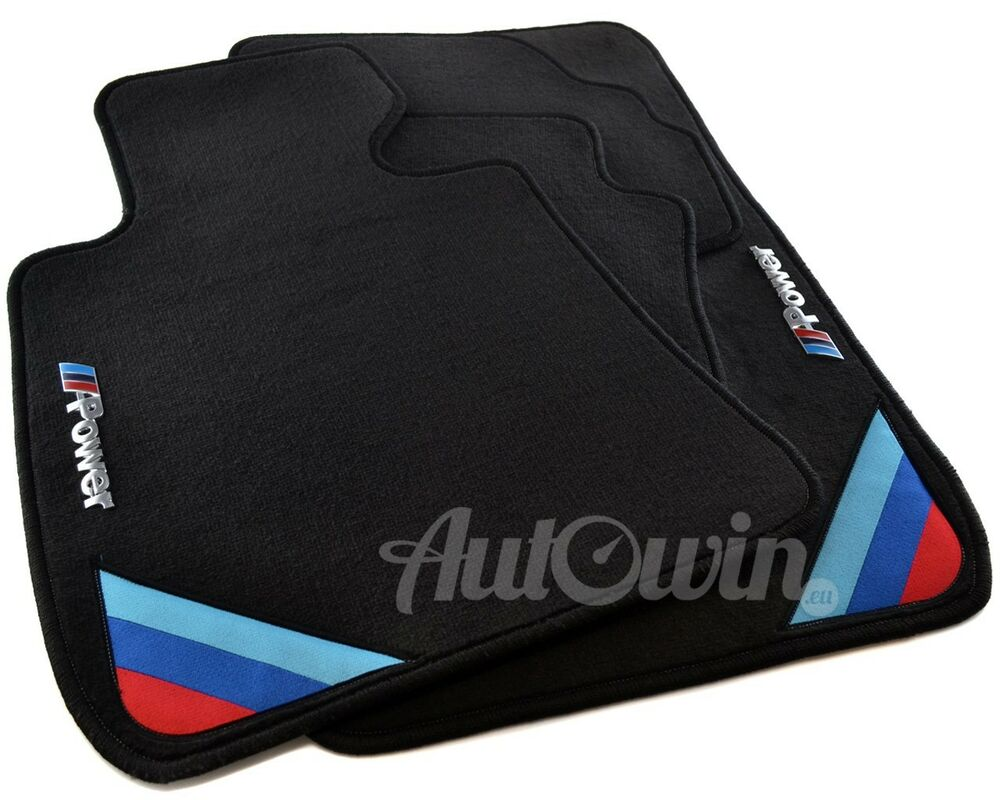 bmw 3 series e92 winter floor mats with rubber background ///m power