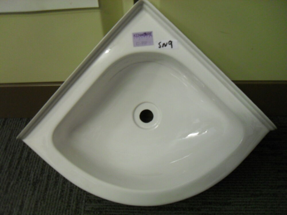 caravan bathroom sink caravan motorhome boat bathroom white plastic corner 12239