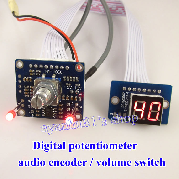 dc 5v 12v digital potentiometer volume control board audio. Black Bedroom Furniture Sets. Home Design Ideas