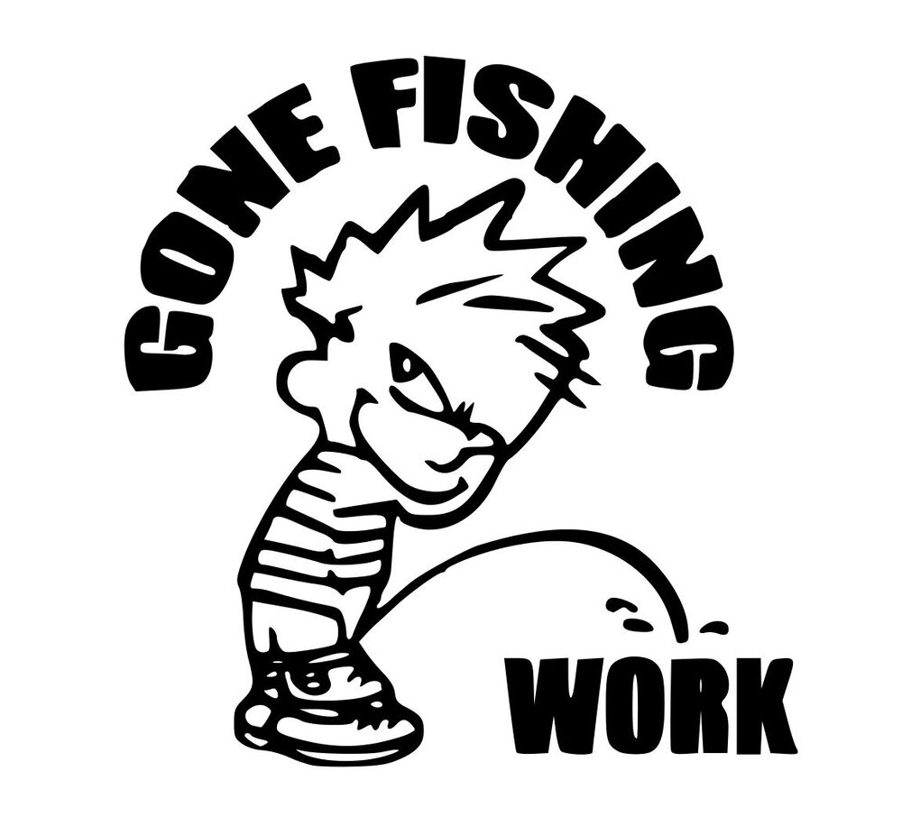 Gone fishing sticker crankbait bass baitcaster salmon for Fishing stickers and decals