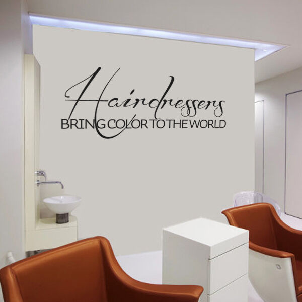 Hairdressers Wall Decal Hair Salon Beauty Quote Vinyl