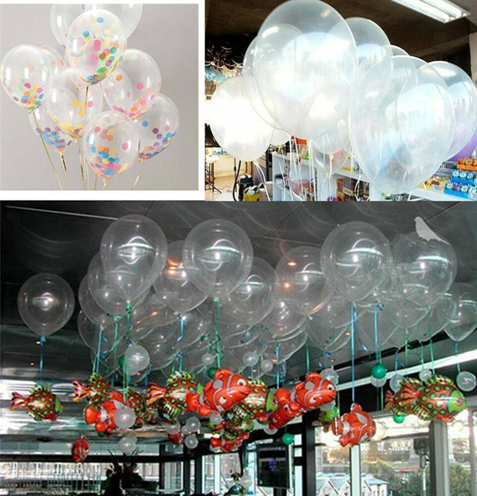 Wholesale lots diy transparent latex balloons birthday for Wholesale decor