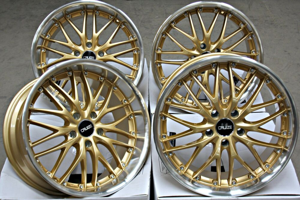 18 Quot Cruize 190 Alloy Wheels Gold Pol Deep Dish Staggered