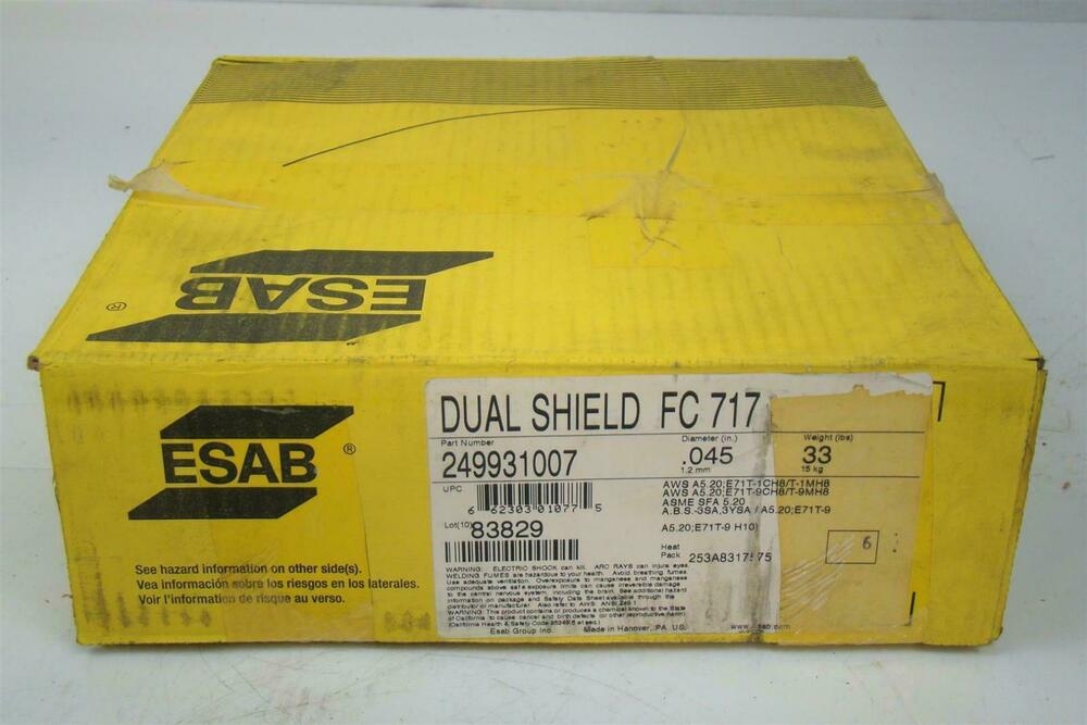 Flux Core Welding Wire >> ESAB DUAL SHIELD FC717 WELDING WIRE 0.45"