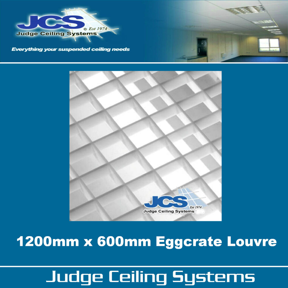 Suspended Ceiling Lights 600mm X 600mm : Mm egg crate louvre light diffuser suspended