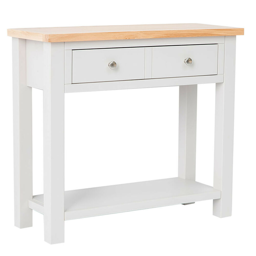 Hall tables ebay farrow painted console table with oak top stone painted hall table new geotapseo Image collections