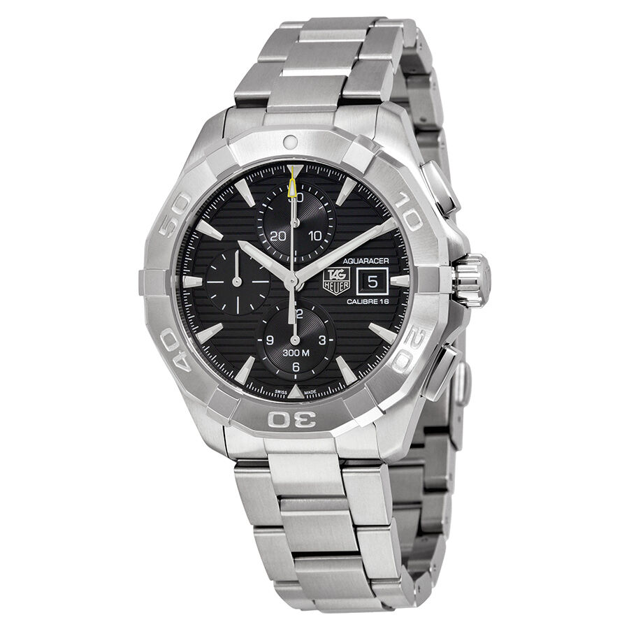 Tag heuer aquaracer stainless steel mens watch cay2110 ba0927 ebay for Tag heuer aquaracer