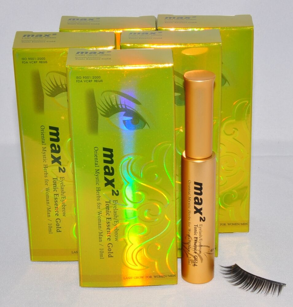 lot of 5 eyelash extensions max2 tonic essence gold lash grow tonic max 2 ebay. Black Bedroom Furniture Sets. Home Design Ideas