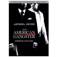 NEW American Gangster (DVD, 2009) Denzel Washington Russell Crowe FACTORY SEALED