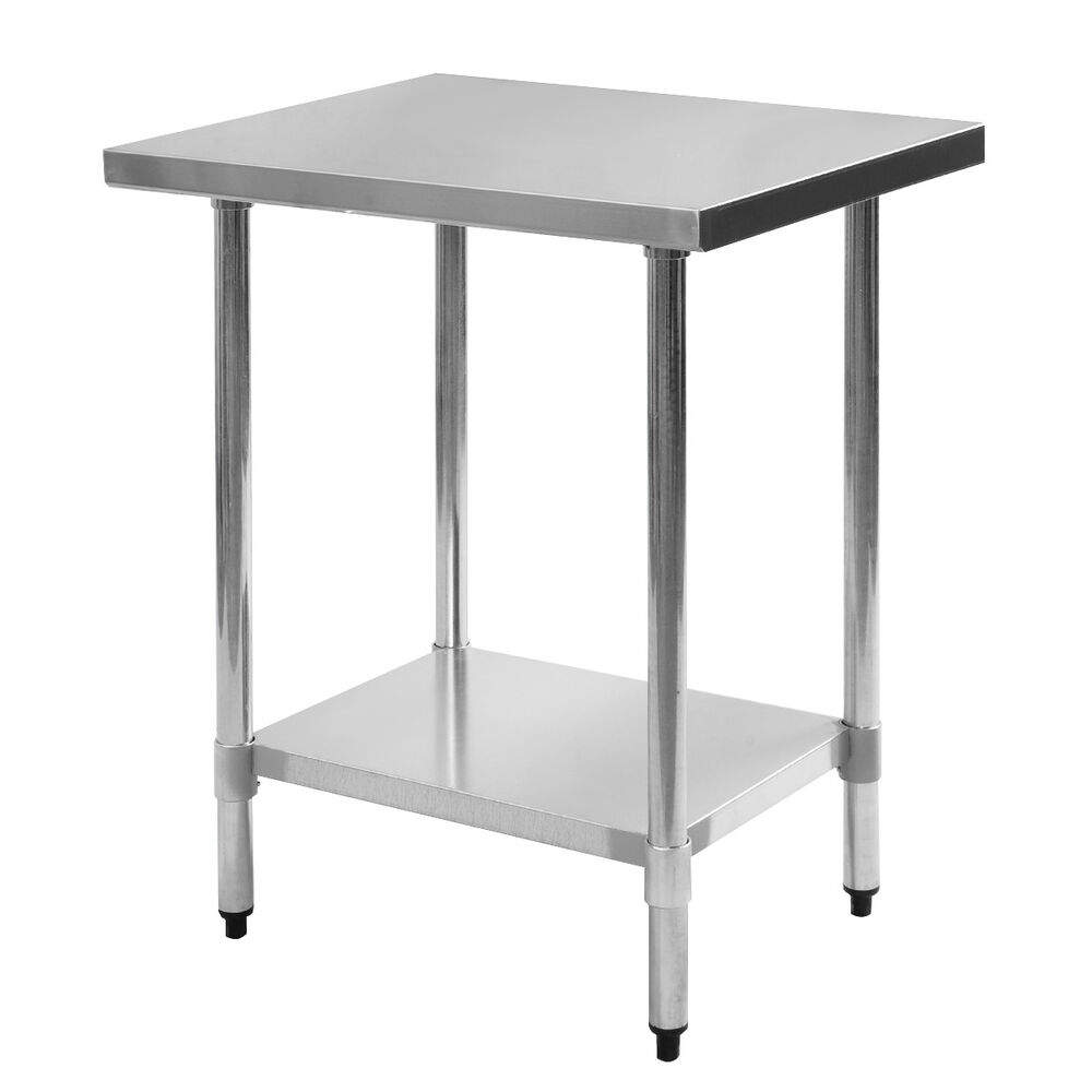24 x 30 stainless steel work prep table commercial kitchen restaurant new ebay - Industrial kitchen table stainless steel ...