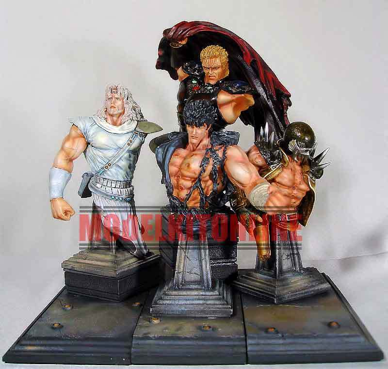 KENSHIRO BUST SET FIST OF THE NORTH STAR 1/6 UNPAINTED