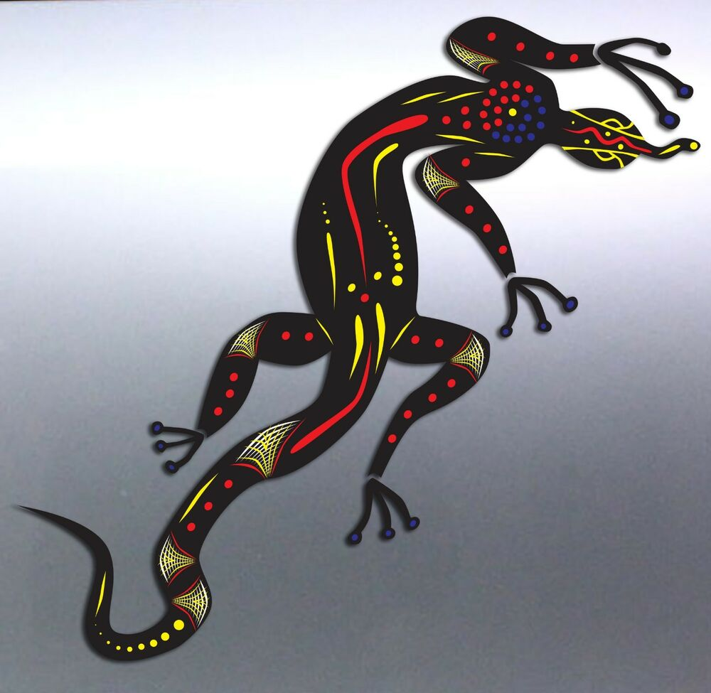 Lizard Aboriginal Art Local Vinyl Cut Car Boat Sticker
