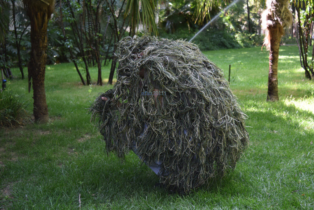 Bag New Ghillie Suit M//L Camo Woodland Camouflage Forest Hunting 3D 5-Piece