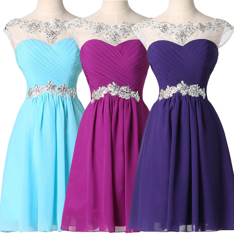 Teens SHORT MINI Prom Junior Dresses Party Bridesmaid ...
