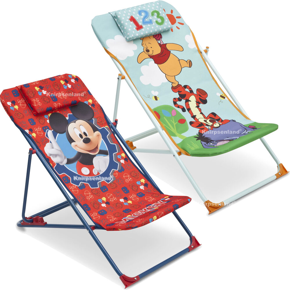 disney kinder liegestuhl campingstuhl klappstuhl sonnenliege sonnen liege stuhl ebay. Black Bedroom Furniture Sets. Home Design Ideas