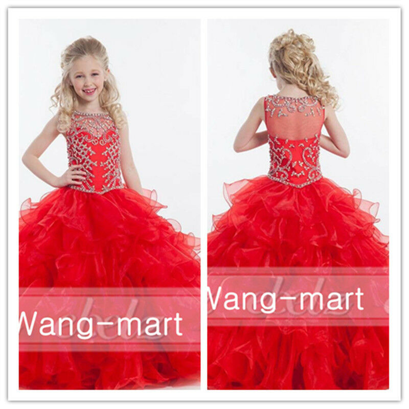 Flower girl dresses for wedding christmas prom ballgown pageant party